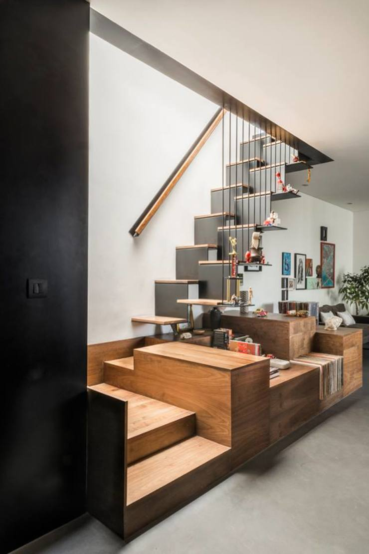 Brenno il mobile Stairs Wood Multicolored