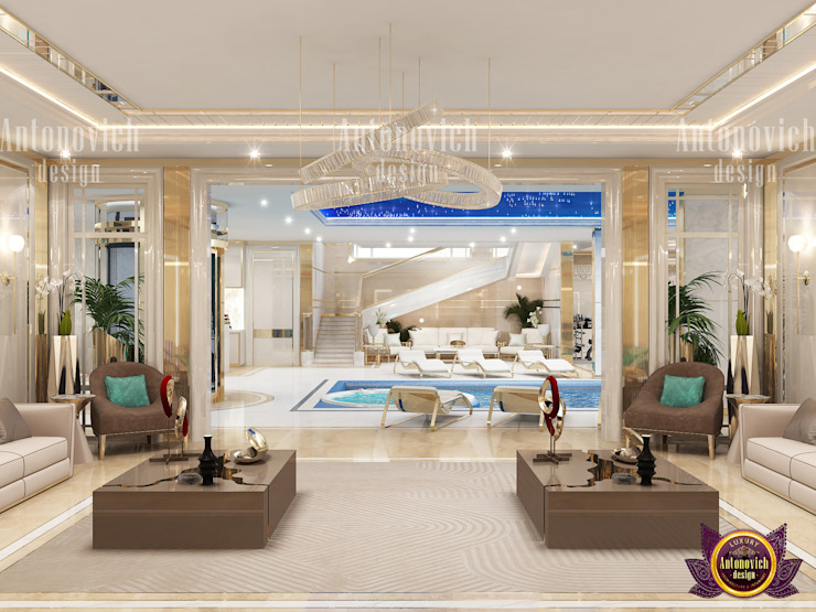 Living Room With Luxurious Design by Luxury Antonovich Design