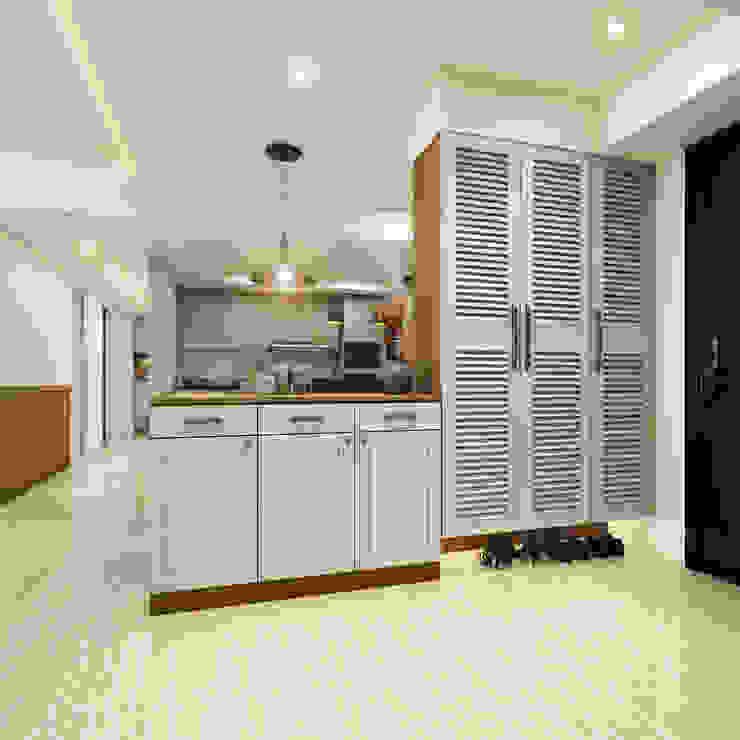 玄關 乡村风格的走廊,走廊和楼梯 根據 木博士團隊/動念室內設計制作 鄉村風 MDF