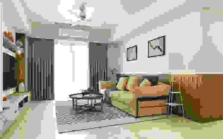 沙發背牆 根據 木博士團隊/動念室內設計制作 鄉村風