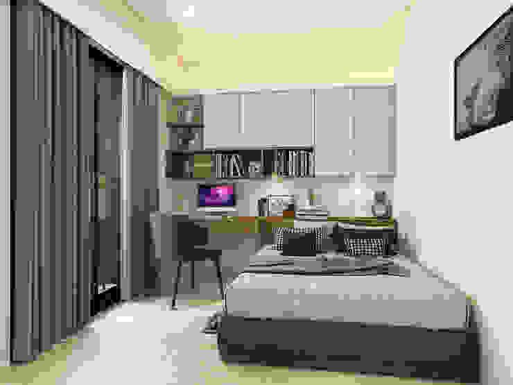 系統床頭櫃,書櫃,書桌 木博士團隊/動念室內設計制作 Country style bedroom