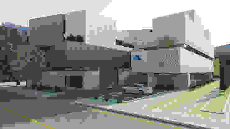 유림싸이겐 사옥 신축 계획안 모던스타일 주택 by 삼공사건축사사무소 모던 벽돌