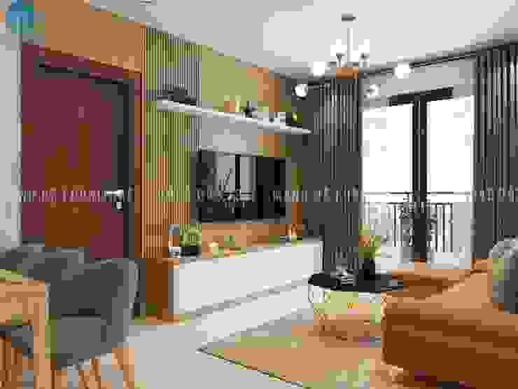 Thiết kế nội thất căn hộ chung HaDo Centrosa Garden 86m2 có 2 phòng ngủ – Cô Hồng, Quận 10, TP.HCM bởi Công ty TNHH Nội Thất Mạnh Hệ Hiện đại OSB
