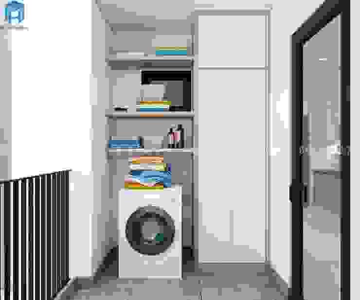 Thiết kế nội thất căn hộ chung HaDo Centrosa Garden 86m2 có 2 phòng ngủ – Cô Hồng, Quận 10, TP.HCM bởi Công ty TNHH Nội Thất Mạnh Hệ Hiện đại Đá sa thạch