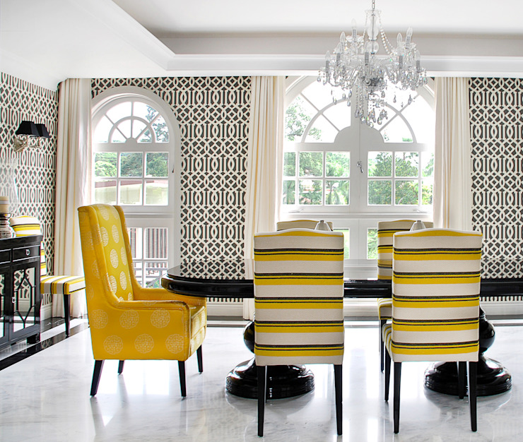 Dining Room by Design Intervention Colonial style dining room by Design Intervention Colonial