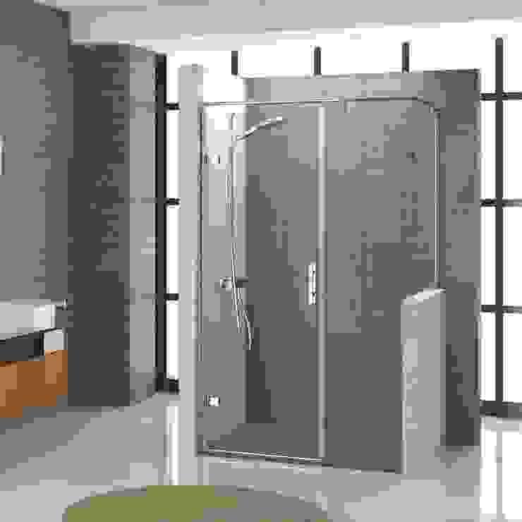 Ducha independiente con puerta abatible Baños de estilo moderno de Banium-Reformas del Hogar en Madrid Moderno