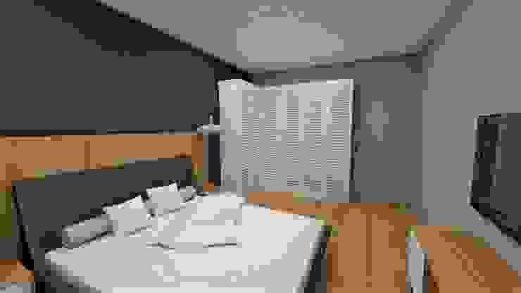 Katarzyna Wnęk Small bedroom Wood Purple/Violet