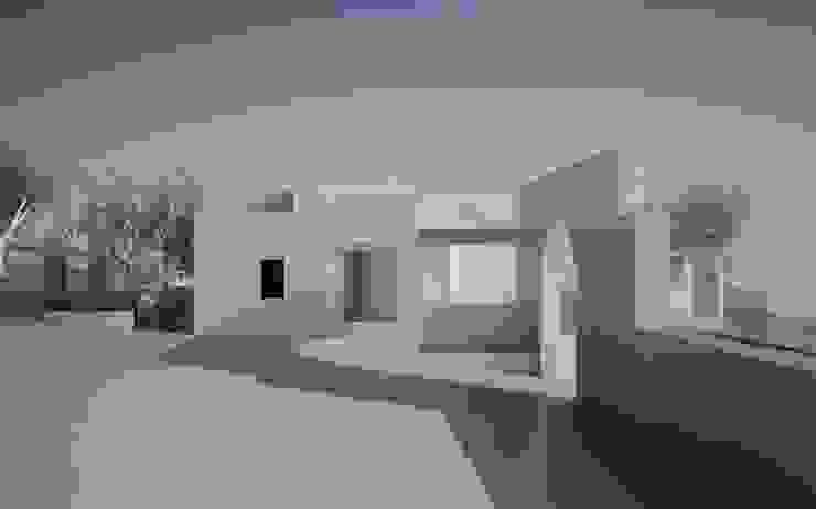 studio dei volumi e delle aperture architetto stefano ghiretti Casa piccola Bianco