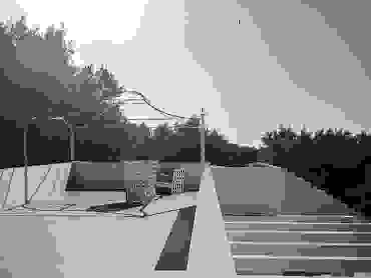 architetto stefano ghiretti Balcones y terrazas de estilo moderno Blanco