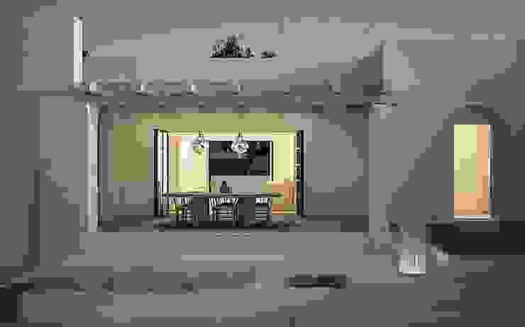 architetto stefano ghiretti Balkon, Beranda & Teras Modern
