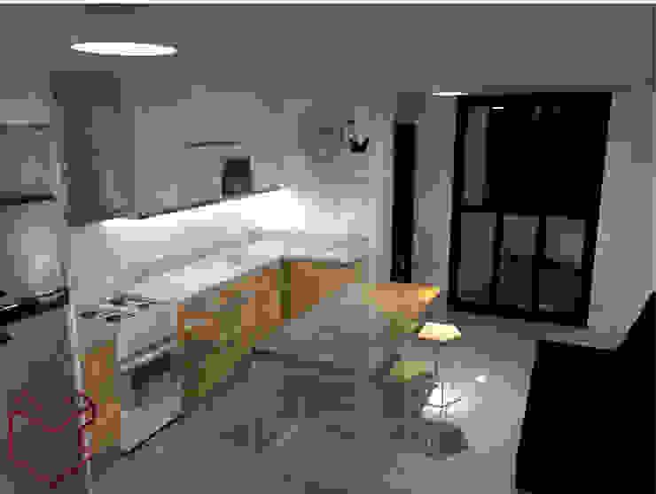 3D Cocina :  de estilo industrial por Cubicointerior, Industrial