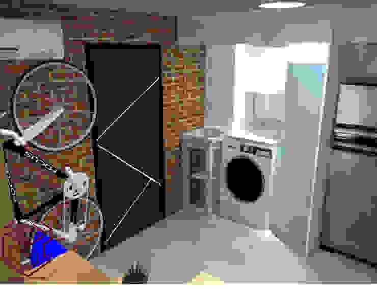 Vista De logia, esta incluye Puertas:  de estilo industrial por Cubicointerior, Industrial
