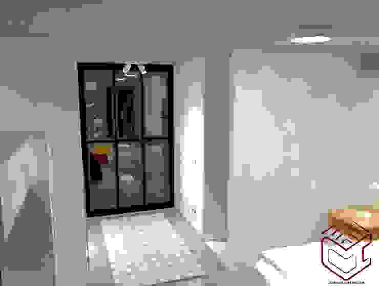 Vista de división para dormitorio, incluye vestier :  de estilo industrial por Cubicointerior, Industrial