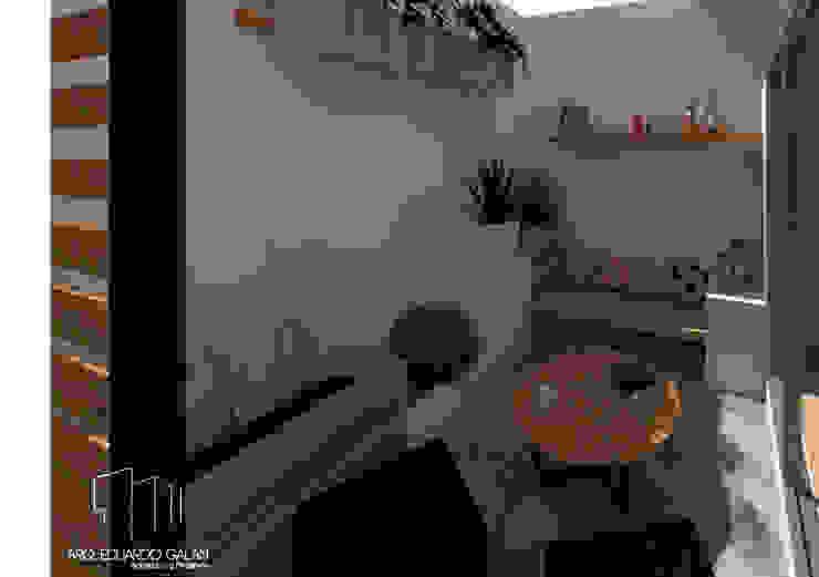 Terraza Casa Sta. Bárbara Balcones y terrazas tropicales de Arq Eduardo Galan, Arquitectura y paisajismo Tropical