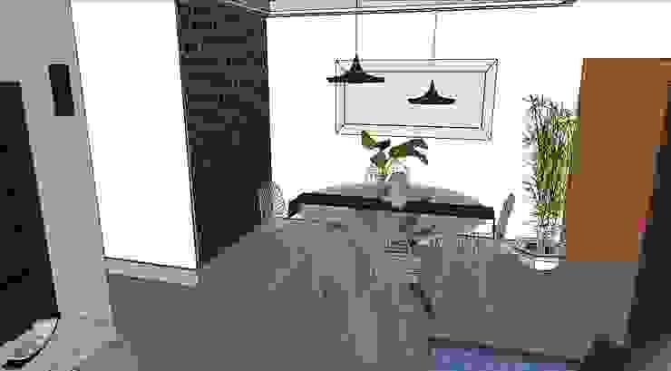 Comedor contemporáneo de Cubicointerior Moderno Textil Ámbar/Dorado