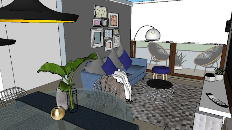 living terraza Livings de estilo moderno de Cubicointerior Moderno Metal