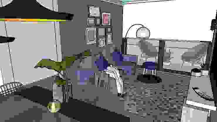 living terraza Livings de estilo moderno de Cubicointerior Moderno
