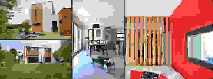 Maison contemporaine Empreinte Constructions bois Chalets & maisons en bois