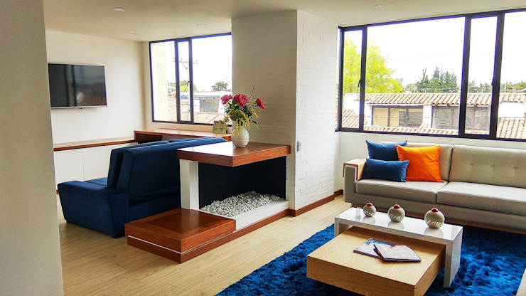 Nowoczesny salon od EVA Arquitectos SAS Nowoczesny