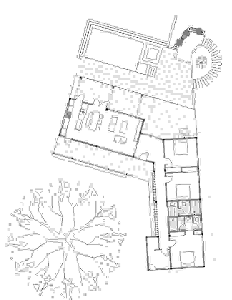 Planta arquitectónica Casas de estilo rural de EVA Arquitectos SAS Rural