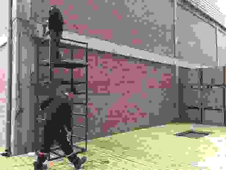 Deck de madera de Tallo Taller Industrial Madera Acabado en madera