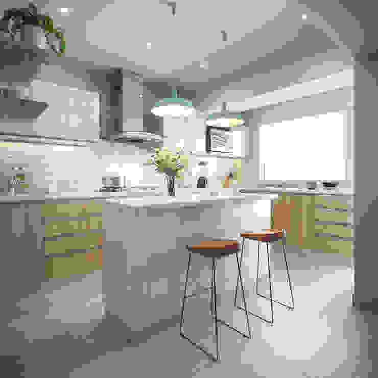 現代廚房設計點子、靈感&圖片 根據 TR3STUDIO 現代風