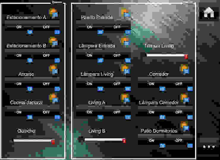 Interfaz para control de Iluminación de IDx Redes Limitada Moderno
