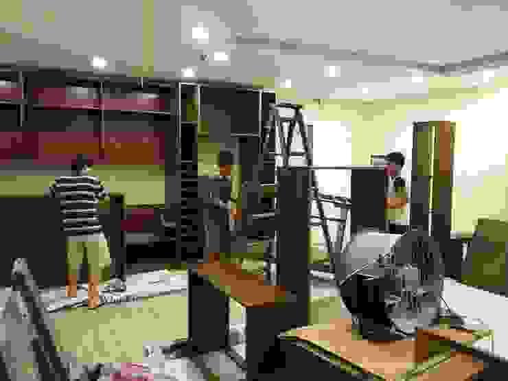 Thiết kế nội thất cho căn hộ nhỏ 38m2 nhà chị Nhàn: hiện đại  by CÔNG TY CỔ PHẦN THƯƠNG MẠI, THIẾT KẾ VÀ TRANG TRÍ NỘI THẤT ATZ VIỆT NAM, Hiện đại