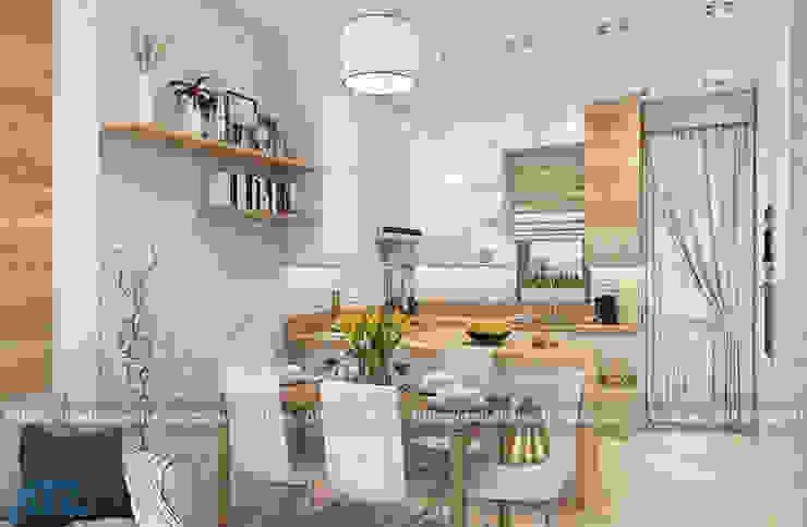 Thiết kế thi công nội thất chung cư nhỏ cho nhà chị nhàn: hiện đại  by CÔNG TY CỔ PHẦN THƯƠNG MẠI, THIẾT KẾ VÀ TRANG TRÍ NỘI THẤT ATZ VIỆT NAM, Hiện đại