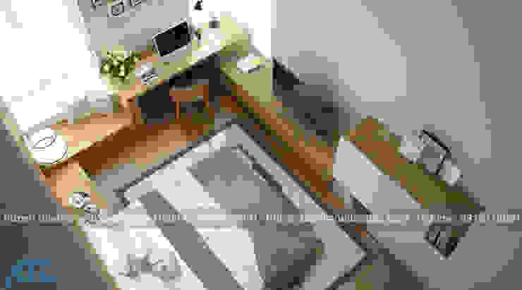 Thiết kế thi công nội thất chung cư nhỏ cho nhà chị nhàn: hiện đại  by CÔNG TY CỔ PHẦN THƯƠNG MẠI, THIẾT KẾ VÀ TRANG TRÍ NỘI THẤT ATZ VIỆT NAM, Hiện đại Đá phiến