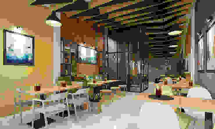 thiết kế nội thất quán cafe Phòng giải trí phong cách hiện đại bởi công ty thiết kế nhà hàng & quán cafe Hiện đại CEEB Hiện đại