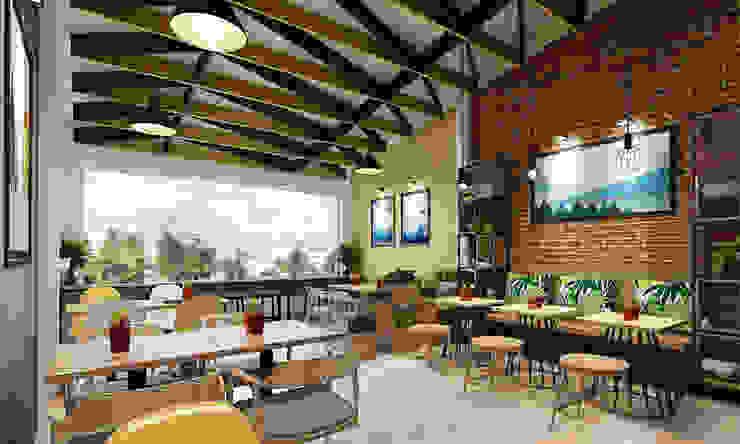 thiết kế quán ăn Phòng giải trí phong cách hiện đại bởi công ty thiết kế nhà hàng & quán cafe Hiện đại CEEB Hiện đại