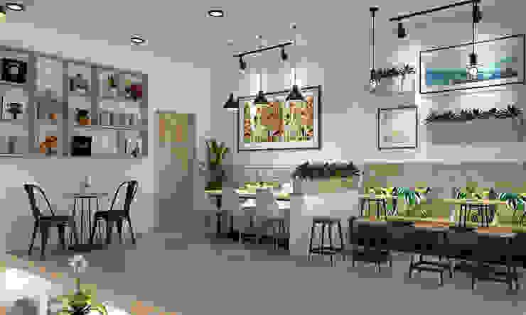 thiết kế quán trà sữa: hiện đại  by công ty thiết kế nhà hàng & quán cafe Hiện đại CEEB, Hiện đại