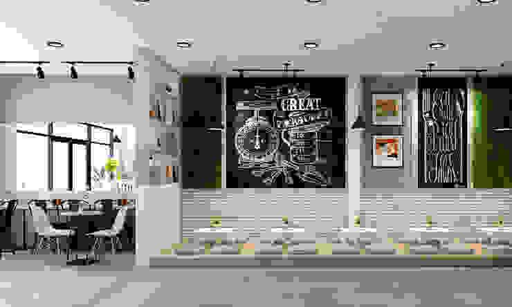 thội thất trà sữa đẹp: hiện đại  by công ty thiết kế nhà hàng & quán cafe Hiện đại CEEB, Hiện đại