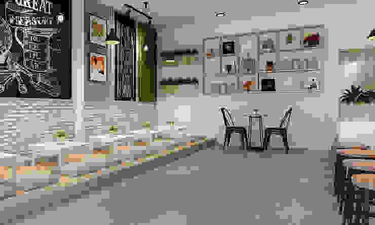 thiết kế quán trà sữa hiện đại: hiện đại  by công ty thiết kế nhà hàng & quán cafe Hiện đại CEEB, Hiện đại