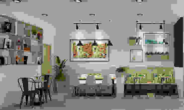 thiết kế tiệm trà sữa: hiện đại  by công ty thiết kế nhà hàng & quán cafe Hiện đại CEEB, Hiện đại