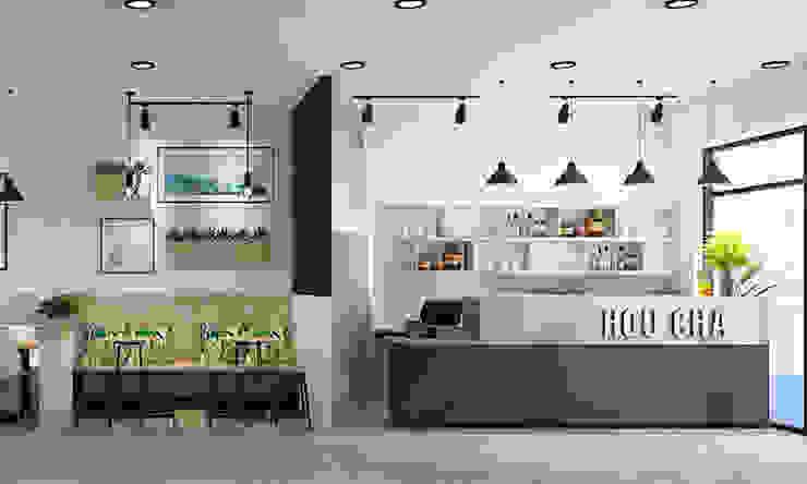 trà sữa hiện đại: hiện đại  by công ty thiết kế nhà hàng & quán cafe Hiện đại CEEB, Hiện đại
