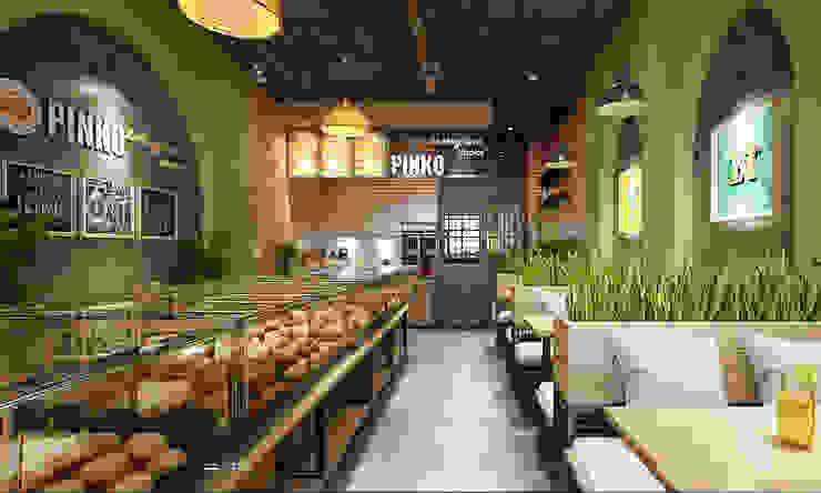 tiệm bánh: hiện đại  by công ty thiết kế nhà hàng & quán cafe Hiện đại CEEB, Hiện đại