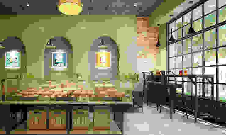thiết kế nội thất tiệm bánh: hiện đại  by công ty thiết kế nhà hàng & quán cafe Hiện đại CEEB, Hiện đại