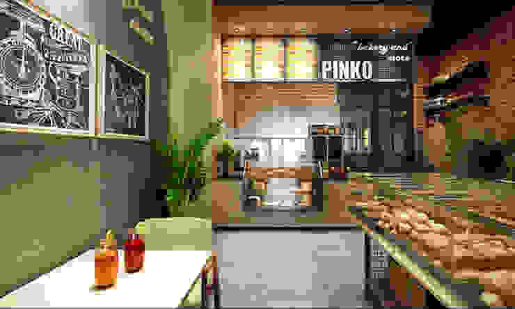 thiết kế tiệm bánh: hiện đại  by công ty thiết kế nhà hàng & quán cafe Hiện đại CEEB, Hiện đại