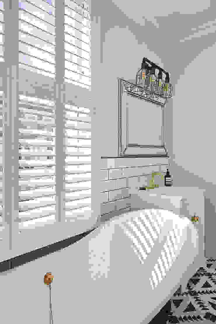 A Stunning Scandi Style Home in Fulham Plantation Shutters Ltd Scandinavian style bathroom MDF White