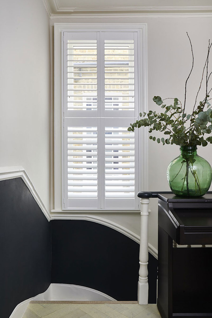 A Stunning Scandi Style Home in Fulham Plantation Shutters Ltd Tangga MDF White