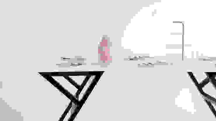 โต๊ะเบ็คเค็ทท์ (Beckett Table): ทันสมัย  โดย THUS FURNITURE, โมเดิร์น ไม้จริง Multicolored