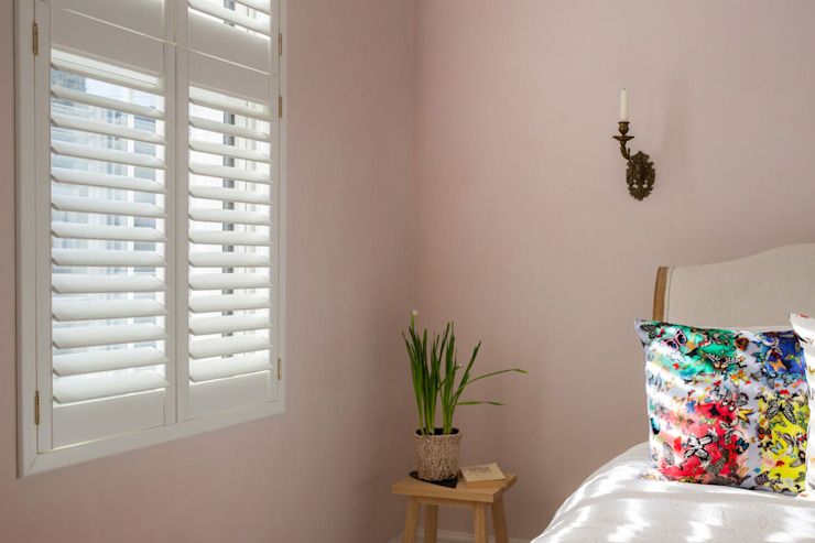 Minimal on Content But Huge on Style Plantation Shutters Ltd Scandinavian style bedroom MDF White
