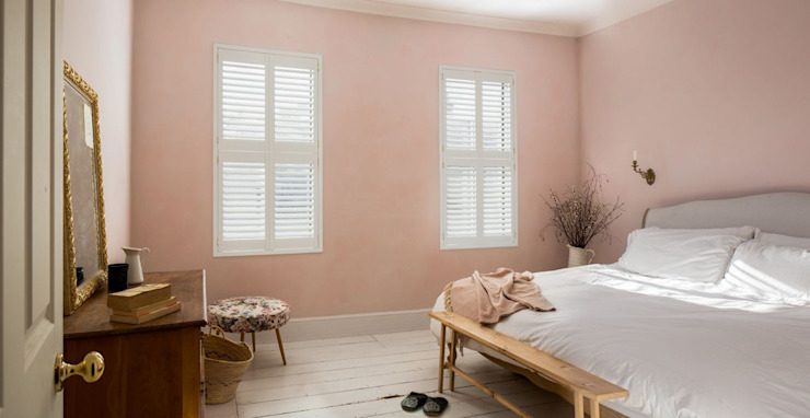 Minimal on Content But Huge on Style Plantation Shutters Ltd Kamar tidur kecil MDF White
