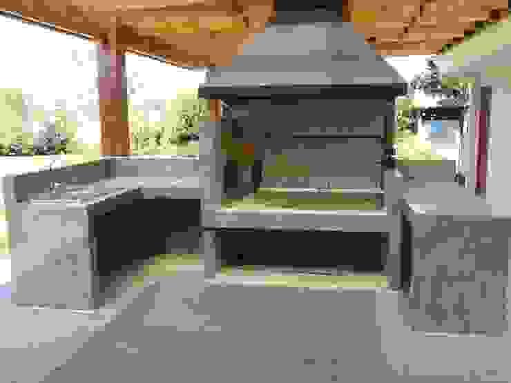 Terraza +Bodega +Asador de ECONproyectos Moderno Concreto reforzado