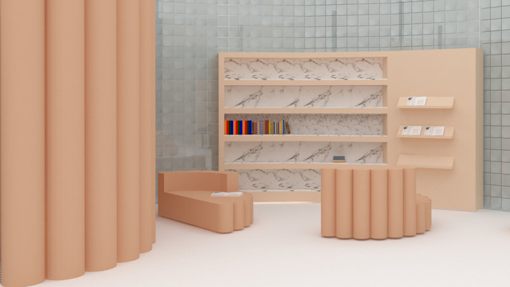 Proyecto de interiorismo para un espacio de coworking en Barcelona Oficinas y tiendas de estilo ecléctico de CARMITA DESIGN diseño de interiores en Madrid Ecléctico Azulejos