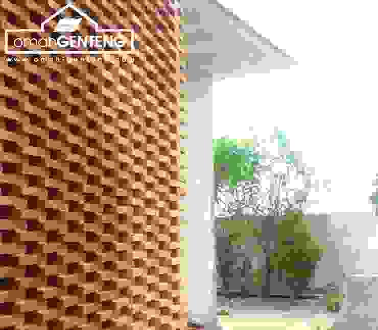 HP/WA: 081 2283 3040 - Bata Ekspos Cikarang - Omah Genteng Dinding & Lantai Gaya Country Oleh Omah Genteng Country Batu Bata