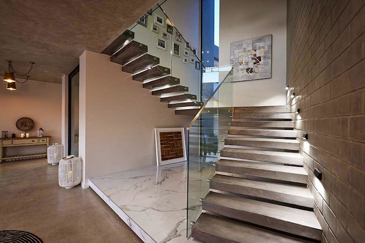Main Stairwell: industrial  by Simply By Design, Industrial Concrete