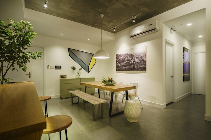Asian style offices & stores by Công ty Thiết Kế Xây Dựng Song Phát Asian